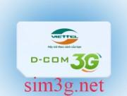 Sim 3g Viettel 120Gb dùng 10GB thỏa thích sử dụng 1 tháng cực sướng