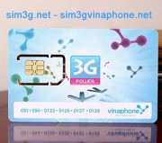 Sim 3g Vinaphone ezcom 42Gb sử dụng thoải mái với 3.5Gb 1 tháng